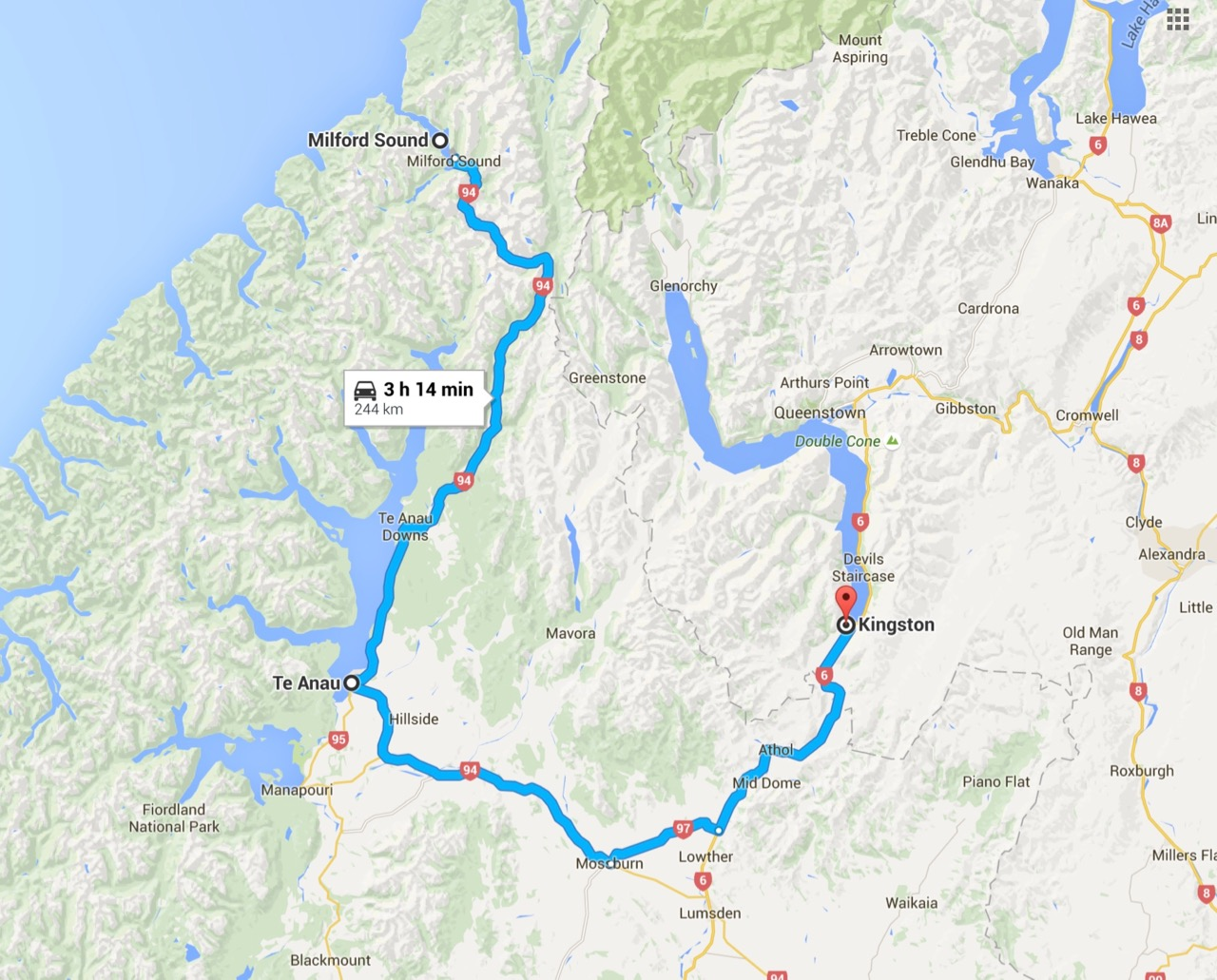 day 10 te anau to milford sound to kingston ralf hamm. Black Bedroom Furniture Sets. Home Design Ideas